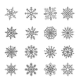 Snowflake star white symbol graphic crystal vector image