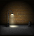 Vintage Streetlamp On Brick Wall Background vector image