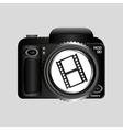 digital photo camera roll film vector image