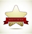 Award star vector image