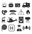 Emergency Icons Collection vector image