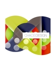 Round shape elements composition Abstract vector image