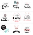 happy easter greeting card poster with cute vector image vector image
