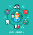 health diagnostics flat round design vector image