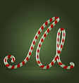 Candy cane abc m vector