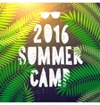 Summer camp 2016 themed and vacation poster vector image