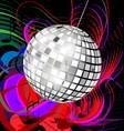 abstract disco ball vector image