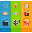 Cinema movie banner poster design template Film vector image