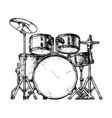 drum kit vector image