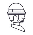 foreman line icon sign on vector image