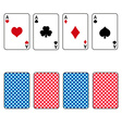 playing cards set of four ace eps10 vector image