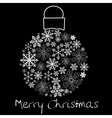 Christmas ball on black background vector image vector image