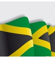 Jamaican waving Flag vector image