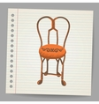 Chair Doodle style vector image vector image