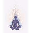 meditation enlightenment sensation of vibrations vector image
