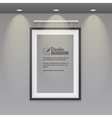 empty frame to the wall with lights vector image vector image
