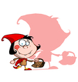 Red riding hood cartoon vector image vector image