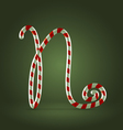 Candy cane abc n vector