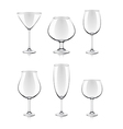 object cocktail glasses vector image vector image