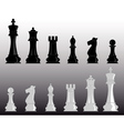 white and black chess vector image vector image