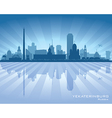 Yekaterinburg Russia skyline city silhouette vector image vector image