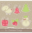 christmas scrapbook elements vector image