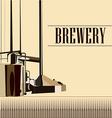 beautiful vintage brewery vector image