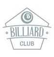 billiard logo simple gray style vector image