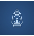 Camping lantern line icon vector image
