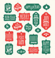 christmas design elements for gift tags greetings vector image