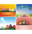 Easter Background Set vector image