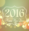 Happy New Year 2016 on Bokeh Light Vintage vector image
