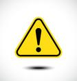 Hazard warning attention sign vector image