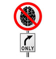 infographics with a sign on the road prohibiting vector image