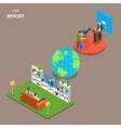 Live report isometric flat concept vector image