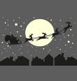 santa claus riding in a sleigh vector image
