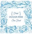 sea fish menu vector image
