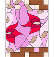 Stained glass window Composition of stylized vector image