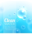 Clean Purified Water Background vector image