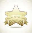 Award star vector image