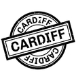 Cardiff rubber stamp vector image