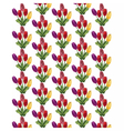 Tulip Flowers Bouquet pattern vector image
