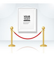 picture frame and gold rope barrier constructor vector image
