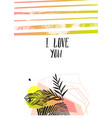 hand made abstract graphic valentines day vector image