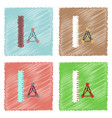 flat icon design collection molecules and ruler vector image vector image