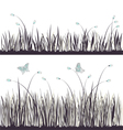 Background grass with butterflies vector image vector image