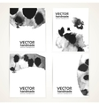 Abstract black and white wet ink texture banner vector image vector image
