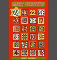 cartoon advent calendar vector image