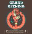 karaoke club bar audio record studio poster with vector image