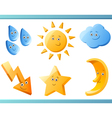 nature or weather cartoon elements vector image